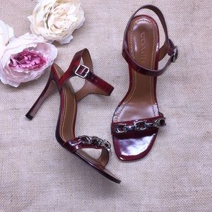 Coach Red Heeled Sandals 9.5M